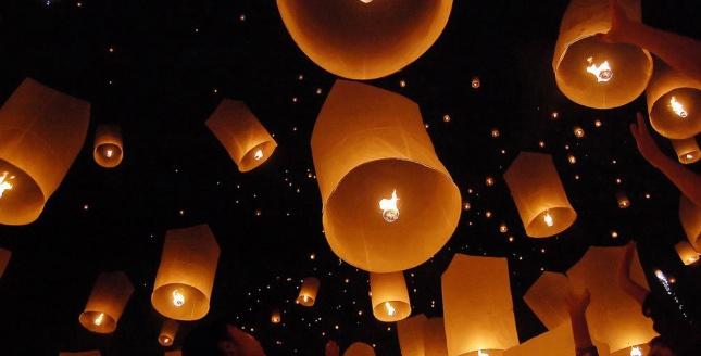 Les lanternes volantes animation sympa f tardises - Fabriquer des lanternes volantes ...